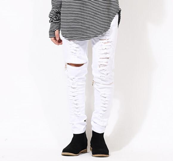 sand-colour-white-black-skinny-ripped-jeans-for-men-Distressed-biker-kanye-west-hba-brand-hip